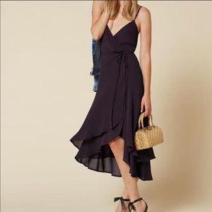 Reformation Mattie Dress in blackberry